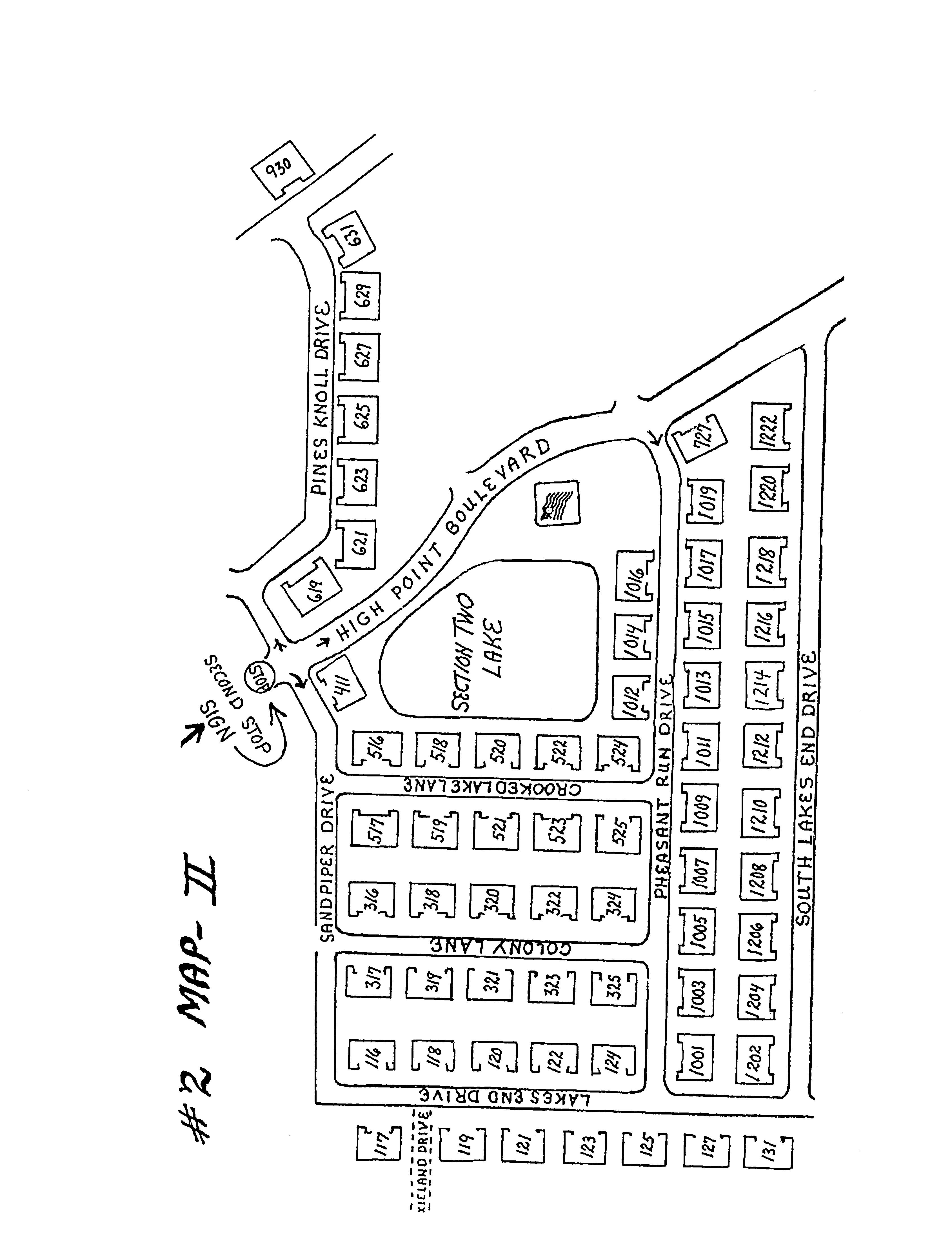 Map of High Point Section II
